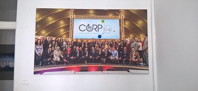 Habillage Mural bureaux CORP