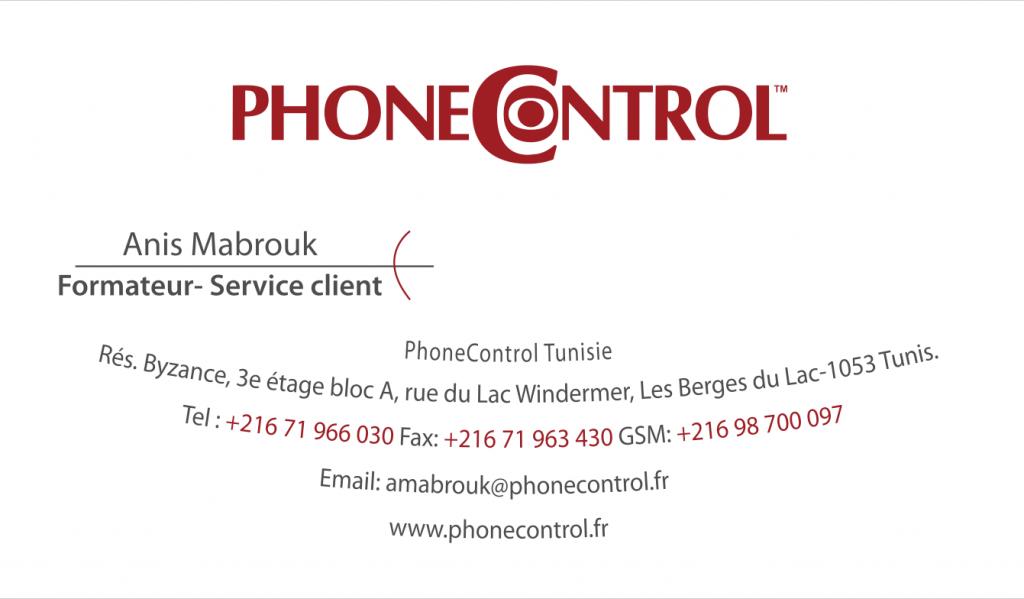 conception Cartes de visites Phonecontrol