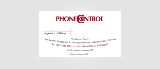 Carte visite pour PhoneControl