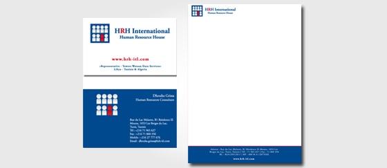 Impression carte de visite et PAP HRH