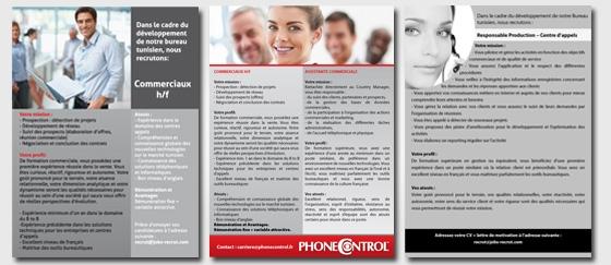 Insertion Presse recrutement PhoneControl