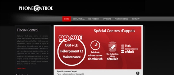 Site web Offre PhoneControl
