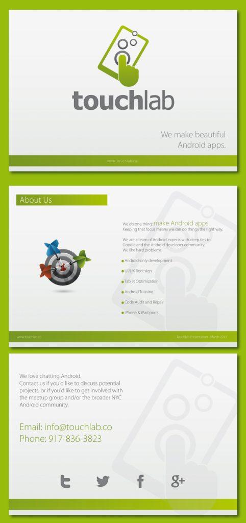 Personnalisation de présentation touchlab