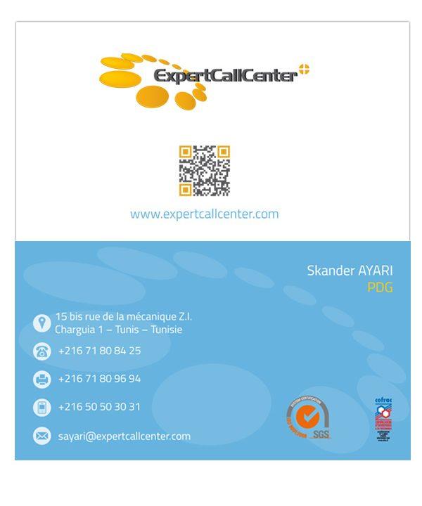 carte viste expertCallCenter