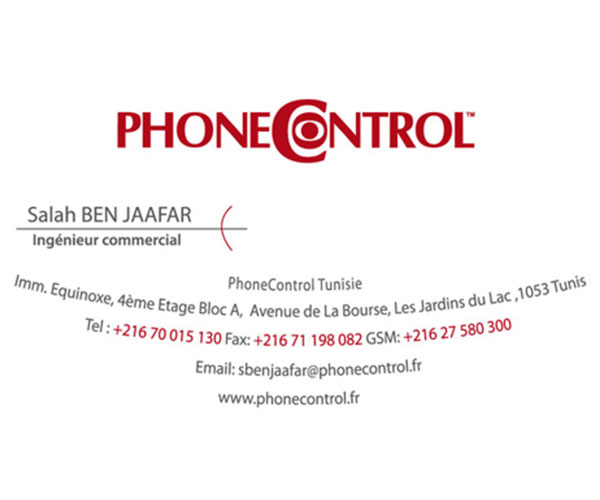 carte de visite phonecontrol