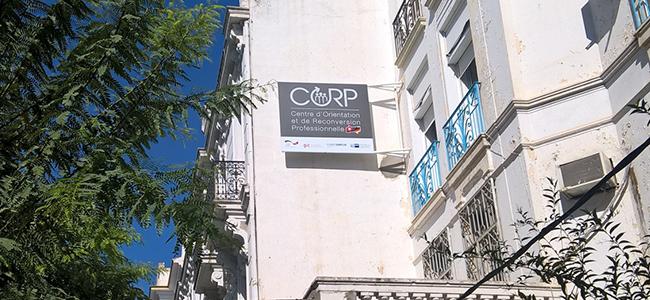 Enseigne drapeau CORP