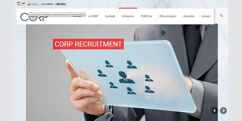 Page entreprise et recrutement CORP
