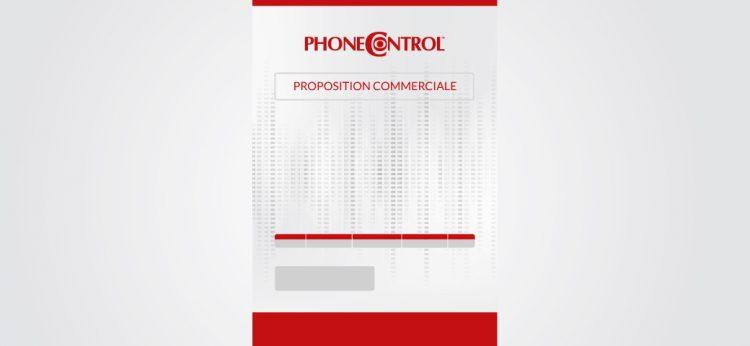 Personnalisation de l'offre commerciale Phonecontrol