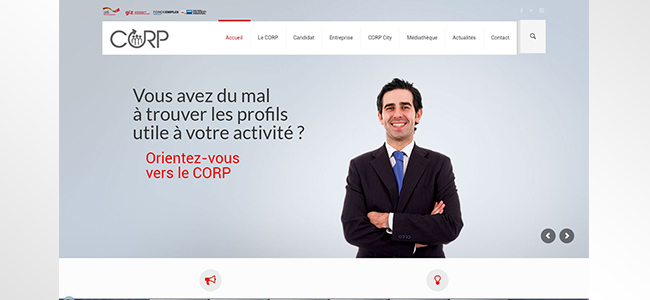 conception site web CORP