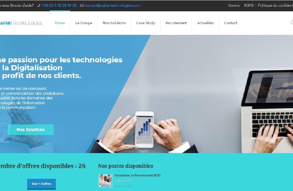 conception site web offshore - France